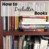 How to Declutter Books