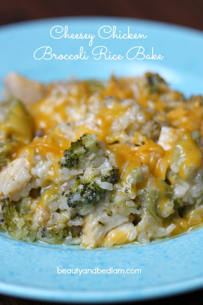 Chicken Broccoli Rice Bake - deliciously freezer friendly