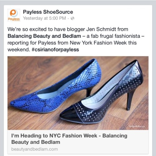 Fashion Week for Payless Shoes