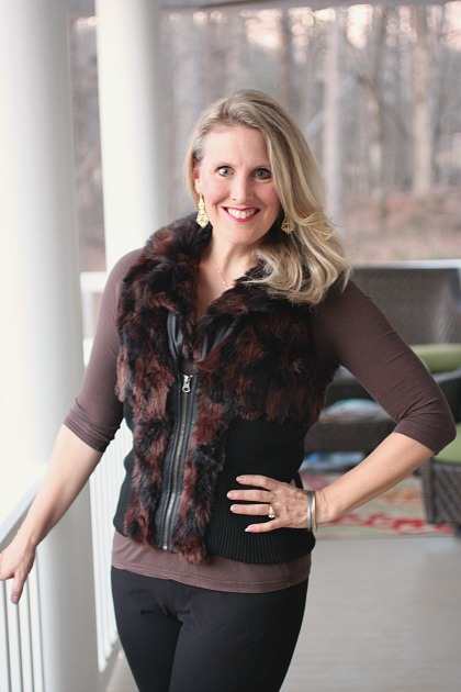 Faux Fur Vest Frugal Fashion