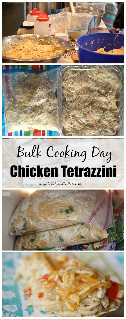 Join us for our Bulk Cooking Day with free printables and recipes Chicken Tetrazzini