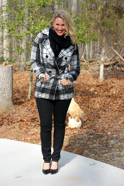 Plaid Coat from Platos Closet #frugal #fashion