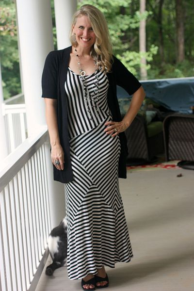 thrifted striped dress