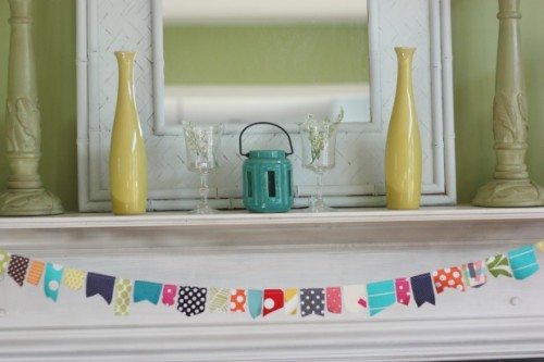 Chalk Paint on the mirror with thrifted items