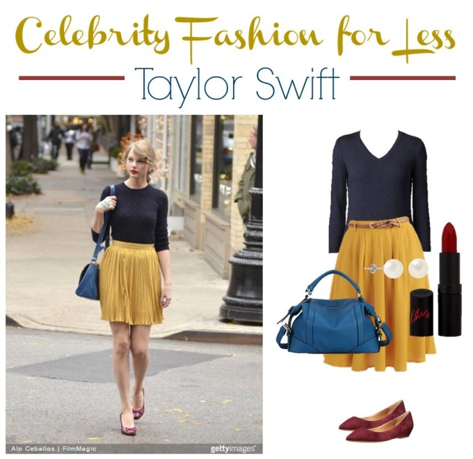 Celebrity Fashion for Less Taylor Swift