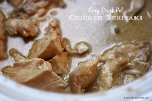 Easy Crockpot Chicken Teriyaki