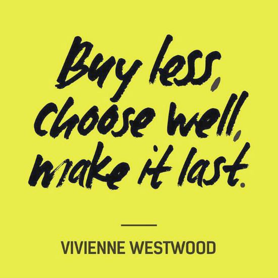 I love this post with some great questions to ask yourself. Buy less, choose well, make it last.