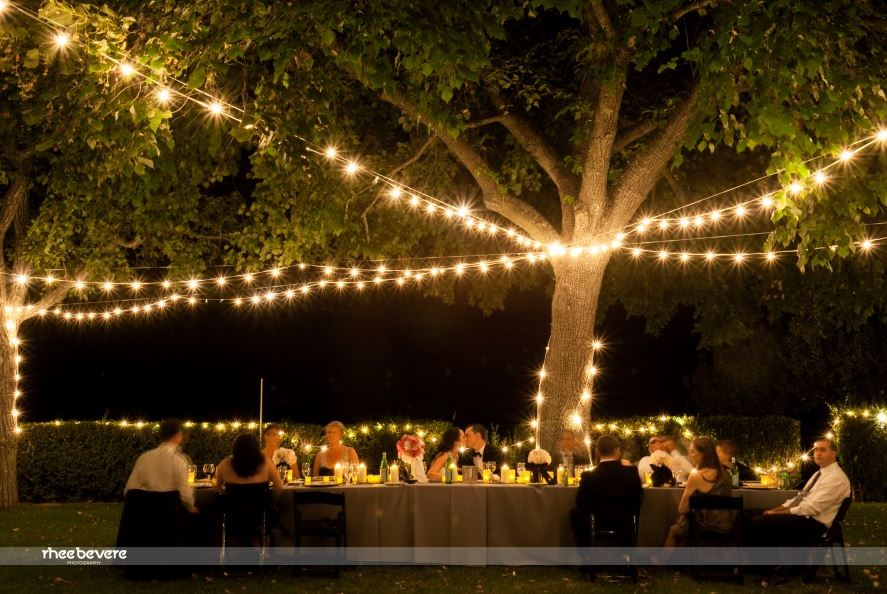 OUTDOOR WEDDING AND LIGHTS