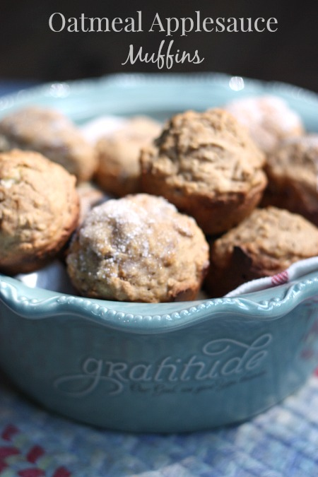 These delicious Oatmeal Applesauce Muffins are the perfect healthy option.