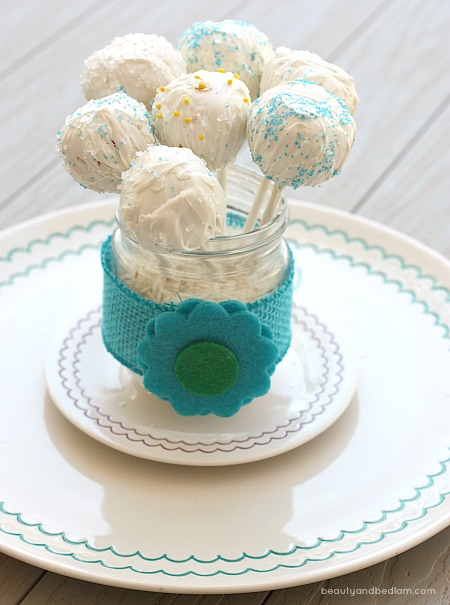 Simple cake pops are always perfect for a party.