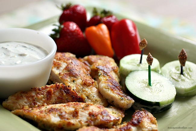 These are absolutely amazing!! Parmesan Ranch Chicken Tenders that whip up in minutes.