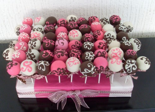With only a few ingredients, cake pops lend a festive touch to any party!! Jump on the craze. It's worth it.