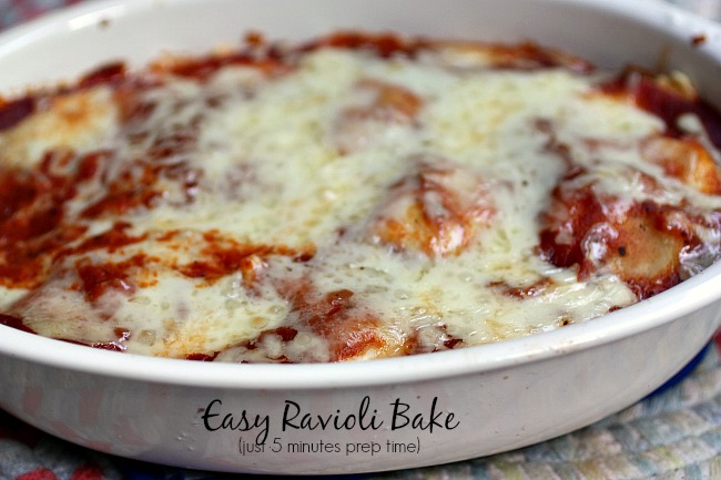 10 Minute Cheese Ravioli Bake