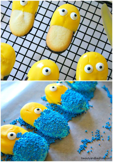 Easy directions for making Minion cookies