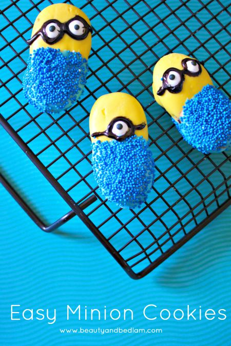 Who doesn't love these adorable Minion Cookies They are so easy when they start with a short cut secret.