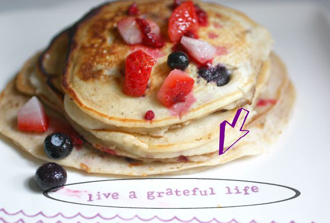 Blueberry, strawberry (any kind of berry) pancakes