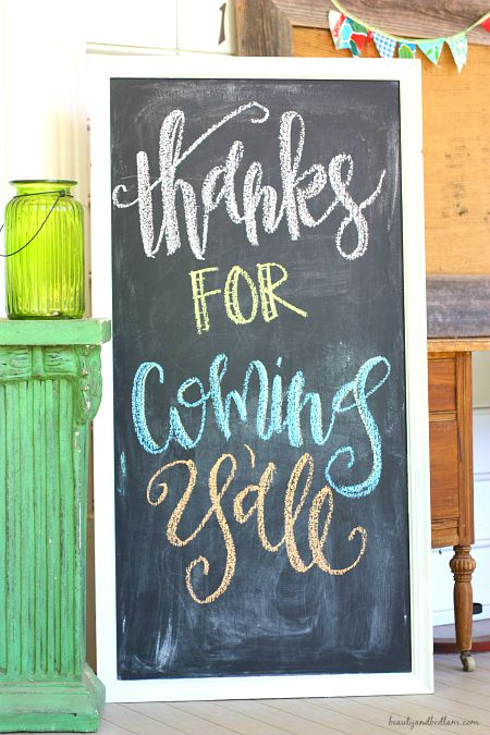 DIY chalkboard from old picture