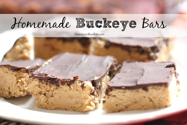 Easy Homemade Buckeye Bars - our favorite treats simplified