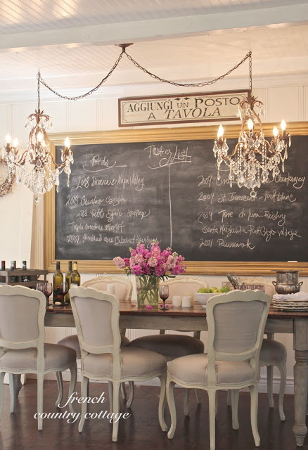 Gorgeous glamourous Chalkboard - french country cottage