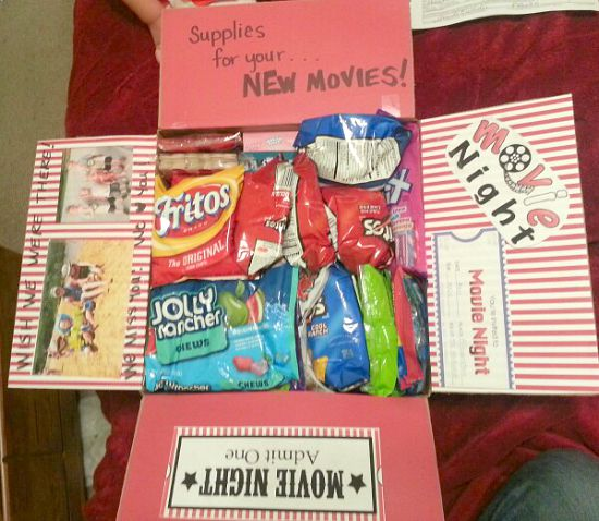 Great movie night care package