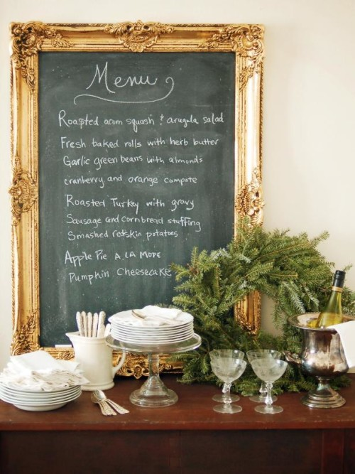 Make your own ornate framed chalkboard
