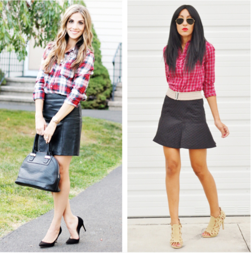Create gorgeous fall fashion looks by dressing up your plaid with some bling.
