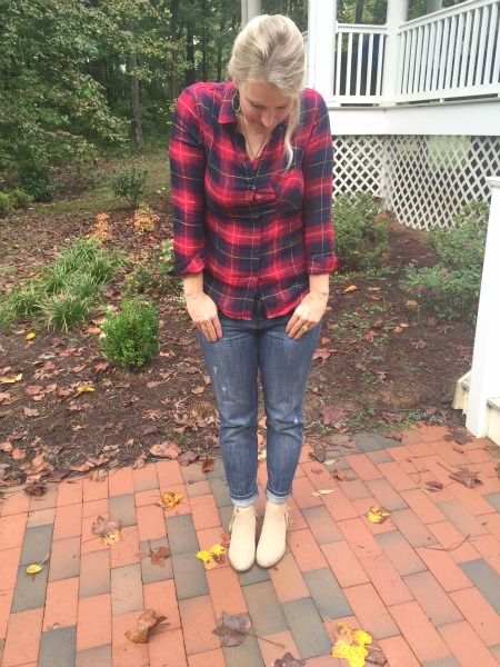 Wearing flannel for fall and winter