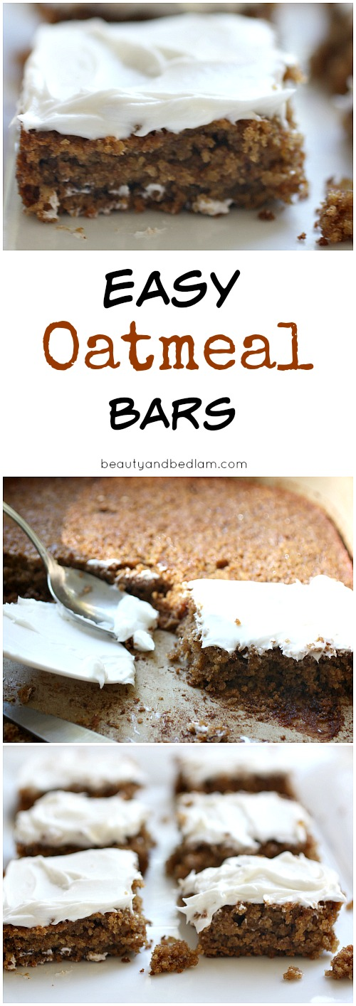 Easy Oatmeal Bars - moist, delicious and gluten free