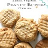 Easy Peanut Butter Cookie Recipe without flour (Only 4 Ingredients)