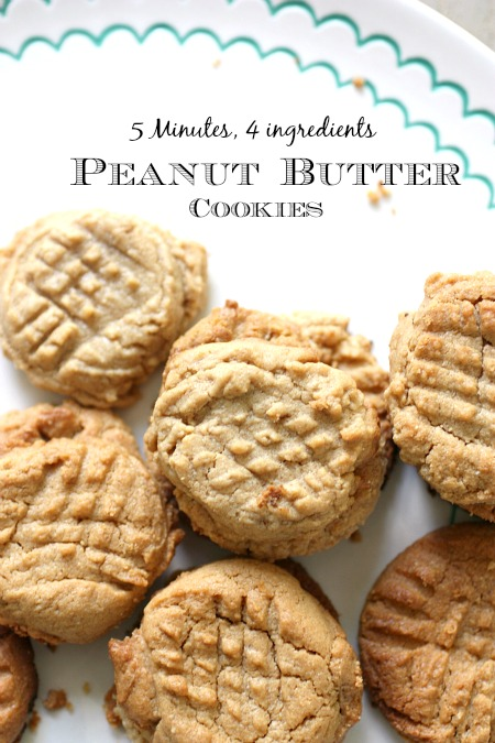 Easy Peanut Butter Cookie Recipe Without Flour (Only 4