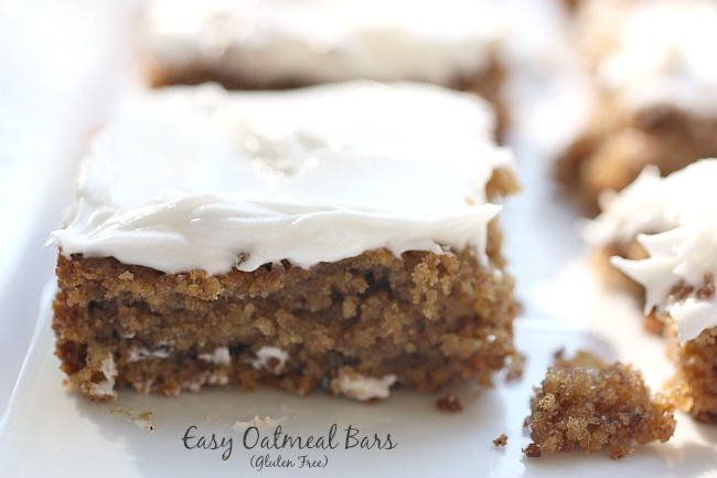 Gluten Free Oatmeal Bars - so moist and delicious!