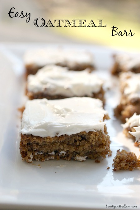 Moist and delicious Oatmeal Bars - perfect for those who are going low carb or gluten free