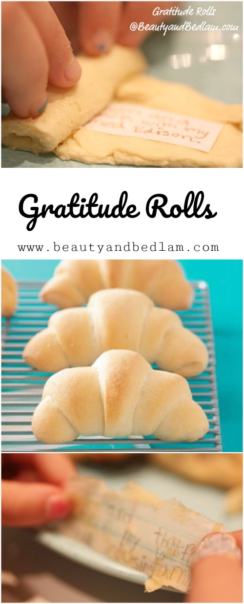 Thanksgiving Gratitude Rolls