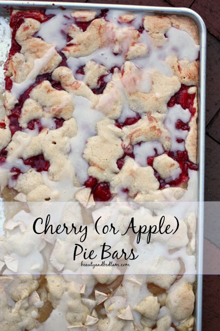 Cherry Pie Bars - these are such a yummy dessert and you can make with apple filling too