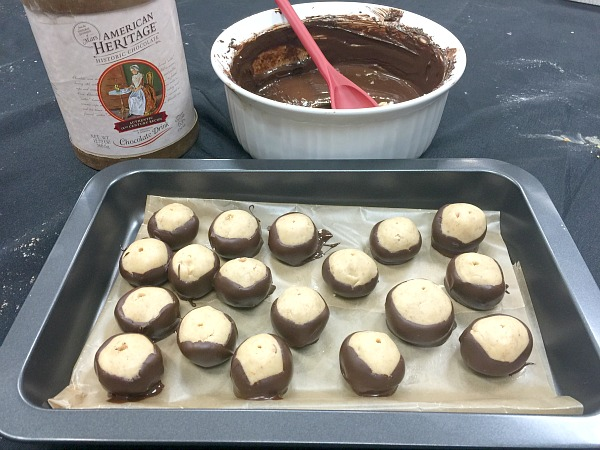 Making Buckeyes with American Heritage Chocolate