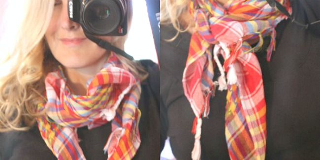 Easy ways to tie a simple scarf