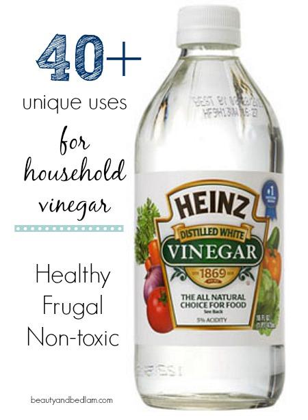 Wonderful household uses for vinegar from beautyandbedlam.com