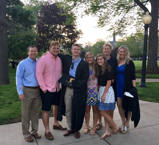 taylor graduation family pic