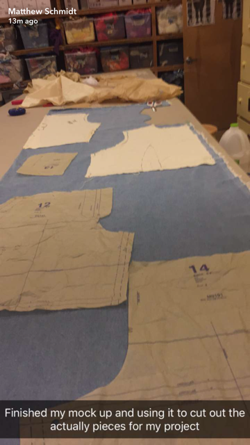 matthew's sewing class